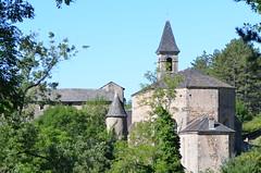 St Sauveur des Pourcils - Cévennes (dfromonteil) Tags: village old ancient church église cévennes france trees arbres nature architecture sky blue green grey gris bleu vert batiment building