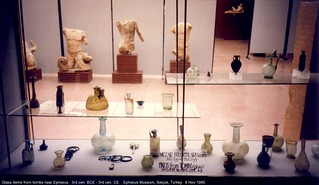 Glass items from tombs near Ephesus.  3rd cen. BCE - 3rd cen. CE.