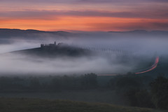Morning in Tuscany (Krasi St Matarov) Tags: tuscany autumn fog landscape italy nikon nature travel sunrise workshop phototour field gold clouds