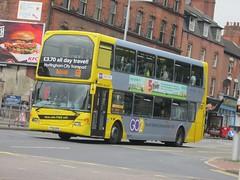 NCT 915 YT61GPO Mansfield Rd, Nottingham on 69 (1280x960) (dearingbuspix) Tags: nottinghamcitytransport go2 6869 6869yellowline yellowline yellowline6869 yt61gpo 915