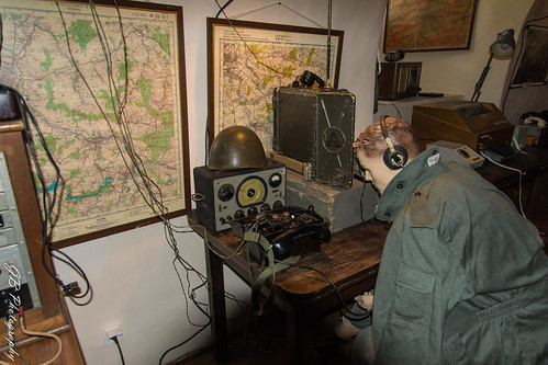 In the Czocha Castle (radiostation equipment from the WW II)
