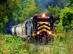 Indiana Northeastern mixed freight north of Fremont Indiana (Matt Ditton) Tags: indiana northeastern shortline train