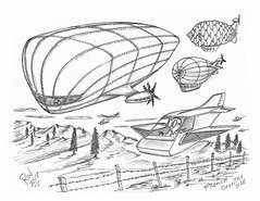 French Coutryside (rod1691) Tags: bw scifi grey concept custom car retro space hotrod drawing pencil h2 hb original story fantasy funny tale automotive art illistration greyscale moonpies sketch