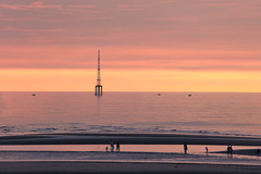 at the beach... (yvone042488) Tags: colors light line pink boat sunset