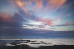 fog and moon from mount tam (pixelmama) Tags: pixelmama mounttamalpaisstatepark mounttamalpais millvalley castateparks californiastateparks california longexposure karlthefog fog moon