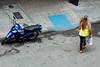Colombiana & Motorcycle, Bucaramanga Colombia (AdamCohn) Tags: adamcohn bucaramanga colombia colombiana kmtoin city favela favelas geo:lat=7108693 geo:lon=73117669 geotagged motorbike urban walking woman wwwadamcohncom santander