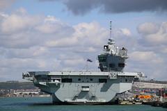 'Queen Elizabeth', HM Naval Base, Portsmouth, Hampshire (Kev Slade Too) Tags: queenelizabeth royalnavy hmnbportsmouth r08 portsmouth hampshire queenelizabethclass