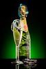 Beads and Bubbles (martin wilmsen) Tags: elinchrom productshot productphotography bottle glass strobist sb900 elc1000 gel nikon d810 skyport stripbox beads beadsandbubbles drink
