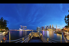 7B1A1708 Sept-01 5D4 1124 Pano Around Esplanade (yimING_) Tags: esplanade panoramic city scape marinabaysands fullertonbayhotel mbs esplanadeopentheatre cityscape landscape singapore bluesky bluehourblue hour