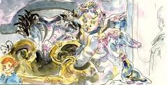 ROME 2017 - un ange de la Basilique Saint-Pierre (croquisdenico) Tags: saintpierre basilique rome roma vatican travel sketchbook carnetdevoyage dessin drawing sketch croquis urbain