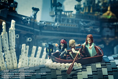 Blocks Magazine: Pirates of the Caribbean (Agaethon29) Tags: lego afol legography brickography legophotography minifig minifigs minifigure minifigures toy toyphotography macro cinematic 2017 blocksmagazine blocks magazine piratesofthecaribbean pirates ship boat jacksparrow ghostship storm stormy wave