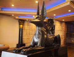 anubis (n.a.) Tags: lasvegas vegas nevada usa anubis statue dog egyptian mythology sarcophagus guard luxor hotel casino resort las