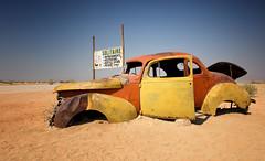 namibia 2017 (mauriziopeddis) Tags: africa namibia solitaire sesriem sossusvlei desert sand sabbia road canon reportage color car sky apple cake torta di mele