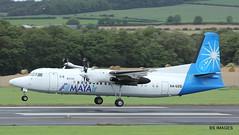 XA-UZG(prev VH-FNE) MAYAIR Regional Fokker F50,Glasgow Prestwick 12/9/17 (BS Images.) Tags: vhfne xauzg fokker mayair f50 delivery airport aircraft aviation ayrshire egpk glasgowprestwick gpa prestwick prestwickairport pik southayrshire scotland