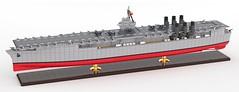"Armada de Cervantes ""Desafiador"" (John Moffatt) Tags: lego digital designer boat render aircraft carrier microscale trophy figure stand cv"