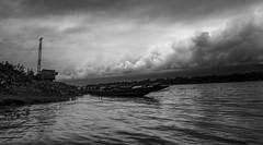 Monsoon Cloud (I'm SHOOTER.....PHOTO Shooter) Tags: cloud boat river calen water monsoon blackandwhite