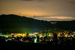 Bubendorf Lights (Patrik Rudin) Tags: night lights skyline clouds wolken horizont nacht lichter strassen long exposure langzeitbelichtung