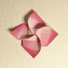 Windmill Flower (Dasssa) Tags: origami paper flower dasa severova paperain youtube tutorial square windmill