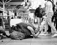 Asking (thomasthorstensson.photography) Tags: fujifilmxt1 story summer 2017 fp4 face barcelona expression alone life project communication xf35mm14r homeless september character abandoned detached forlorn solo vagabond vagrant wandering instagram