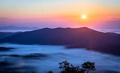 Sunrise above the fog (neal.cornwell) Tags: sunrise fog clouds mountains valleys blueridgemountains wnc northcarolina 828isgreat 828 asheville avl pisgah pisgahnationalforest nationalforest nationalpark