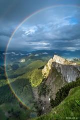 Pot of Gold (Wim Air) Tags: rainbow alps schafberg clouds austria