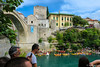 Red Bull Cliff Diving / Mostar / Bosnia and Herzegovina (HimzoIsić) Tags: jumping extreme action adrenalin sport bridge river water poeple building outdoor landscape