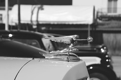 Goddess of Speed (Miguel Angel Prieto Ciudad) Tags: auto macro car cars speed design black white style usa art monochrome sony sculpture metal classic motor goddess deco blancoynegro sonyalpha old vintage mirrorless classiccar mirorless