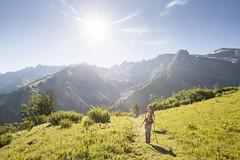 Wandern auf Tschinglen bei Elm, Glarus Süd