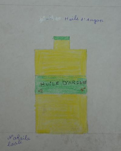 dessin de Nahaila sur l'argan