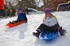 The Kids On Their Sleds (Joe Shlabotnik) Tags: snow sledding sleds violet foresthills 2017 winter queens january2017 everett foresthillsgardens afsdxvrzoomnikkor18105mmf3556ged
