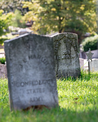 Oakland Cemetery (8223) (jim fleckenstein) Tags: unionsoldier civilwar oaklandcemetery atlantaga tombstone headstone grave marker dof canon eos 70d