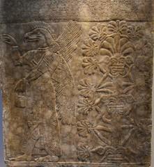 Relief from the palace of Assurnasirpal II at Nimrud, Iraq, ca. 875-860 BCE, National Museum, Copenhagen (3) (Prof. Mortel) Tags: denmark copenhagen assurnasirpal nimrud iraq assyria assyrian