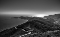 Afternoon Mist, Hawk Hill, Marin Headlands ©2017 Steven Karp (kartofish) Tags: marincounty california coastalbattery blackandwhite hawkhill conzelmanrd vista fujifilm fuji xt2