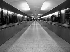 inside the belly of the beast (vfrgk) Tags: lines geometry geometric perspective pov architecture symmetry symmetric urbanphotography urbanfragment urbanlife urbanart streetphotography streetscene monochrome blackandwhite bnw bw abstract tunnel