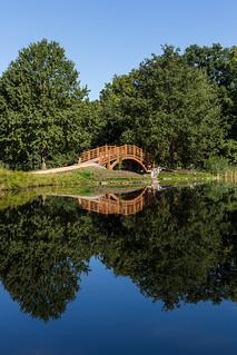 Bridge in Johannapark, Leipzig