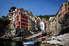Riomaggiore (Stephan Harmes) Tags: building unesco italy sea water boat liguria world heritage sky sun travel