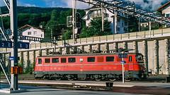 SBB Ae 6'6 11422 Spiez August 2001 (2) (BaggieWeave) Tags: switzerland swiss swissrailways swisstrains sbb cff ffs ae66