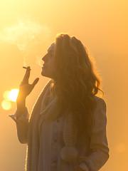 Distante (Diego S. Mondini) Tags: girl blonde smoke brasil brazil santacatarina presidentegetúlio