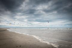 Distant kite surfing