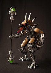 Son of Makuta - Shattering (Gamma-Raay) Tags: bionicle lego monster rahkshi lizard snake toy build warrior evil