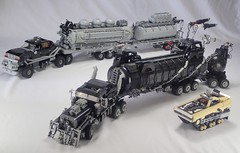 all 3 of the Fury Road vehicles I've built so far (Greeble_Scum) Tags: