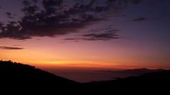 Sunset in Corsica (morganelafond) Tags: corse corsica îles sanguinaires france europe sunset coucherdesoleil coucher soleil sun sky clouds nuages nuage cloud ciel mer sea mountains montagnes colors colorfull couleurs orange violet