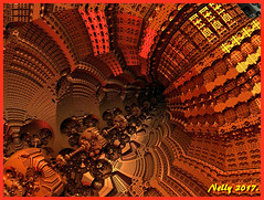 *Into the tunnel... (MONKEY50) Tags: fall autumn fractal art colors brown orange 172017 digital abstract m3d psp september autofocus artdigital shockofthenew netartii hypoothetical musictomyeyes flickraward contactgroups awardtree