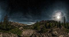Midnight Sun - Explore 8-04-2017 (Jeff Rowton (rebuilding)) Tags: midnightsun cloudpeakwilderness bighornnationalforest backpacking hiking highcountry wyoming moon stars fullmoon alpine lakegeneva