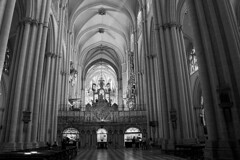 Central nave (Miguel Angel Prieto Ciudad) Tags: religion chapel church architecture black white culture history monochrome sony arch spain columns medieval arches heritage romanesque altar blancoynegro romanic cloister neoclassical sonyalpha mirrorless sonyalphadslr