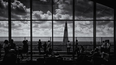 Summer's Gone. (sdupimages) Tags: street reflection ciel bw nb noirblanc blackwhite nuage clouds sky skygarden londres cityscape london