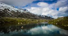 Djupvatnet Lake, Norway (throzen) Tags: norway europe djupvatnet lake landscape outdoors outdoor outside views view nature stream water blue canon eos 700d reflections polarizer mountains mountain snow hills
