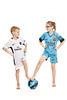 Football rivalry (LalliSig) Tags: studio portrait portraiture people kids children iceland white backround