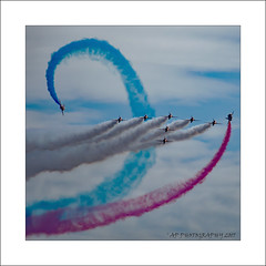 Roll on One (prendergasttony) Tags: lancashire england nikon d7200 beach outdoors clouds mm blackpool seaside coast coastal airshow aviation weather sea sky team iso400 redarrows display aerial ƒ63 3000 18000