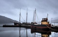 The Vital Spark & Arctic Penguin, Inveraray Pier (Phelan (Shutter Clickin) Goodman) Tags: boats vital spark inveraray argyll pier scotland para handy mist loch fyne steelhulled schooner arctic penguin panasonic gx80